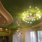 Натяжные потолки, оформление зала